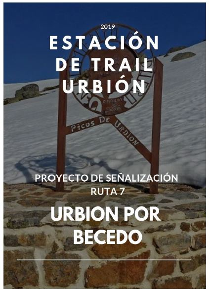 Proyecto de señalización de las 9 rutas de la Estación de Trail Urbión en Soria.