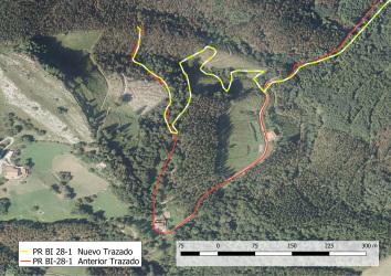 proyecto cambio de trazado del sendero PR-Bi 28